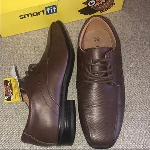 NWT 💥 Smart Fit Brown Textured Dress Shoes  2.5